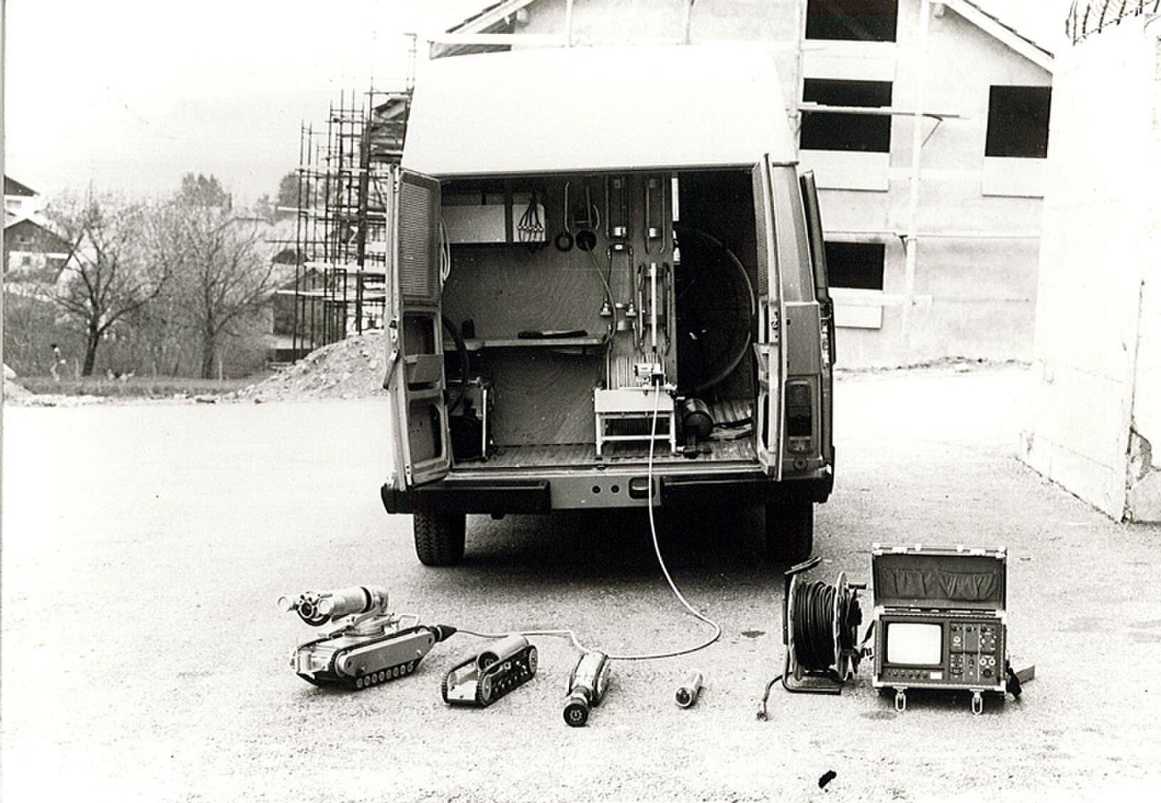 Mise en service de la première caméra pour le contrôle de canalisations